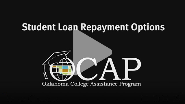 Image of video title page reading Student Loan Repayment Options, OCAP